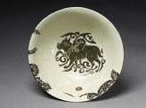 Bowl with winged animal