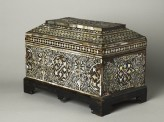 Casket with geometric and foliate decoration (oblique)