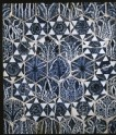 Panel of tiles with vegetal and geometric decoration