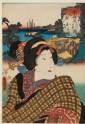 The character Okoma at Ōmori, between Shinagawa and Kawasaki (EA1983.48)