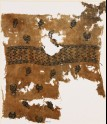 Textile fragment with chalices, fish, and inscription (EA1984.102)