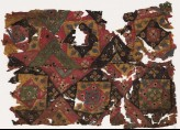 Patchwork fragment with squares