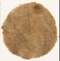 Roundel textile fragment with interlace and lozenges (EA1984.132)