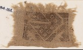 Textile fragment with rectangle and diamond-shapes