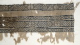 Textile fragment with bands of inverted hooks, flowers, and triangles