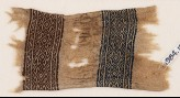Textile fragment with bands of triangles, S-shapes, and diamond-shapes