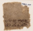 Textile fragment with stylized vine and flowers
