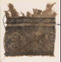 Textile fragment with inverted hooks and half-diamond-shapes