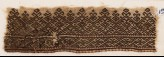 Textile fragment with linked diamond-shapes (EA1984.175)