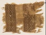 Textile fragment with interlacing diamond-shapes (EA1984.187)