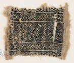 Textile fragment with rectangle and linked diamond-shapes (EA1984.202)