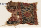 Textile fragment with interlaced diamond-shapes (EA1984.205)