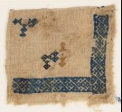 Textile fragment with linked and interlaced diamond-shapes (EA1984.210)