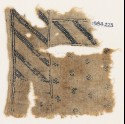Textile fragment with diagonal stripes and crested birds (EA1984.223)
