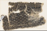 Textile fragment with grid of diamond-shapes (EA1984.231)