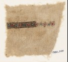 Textile fragment with band of diamond-shapes (EA1984.246)
