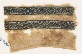 Textile fragment with bands of linked S-shapes and diamond-shapes (EA1984.247)
