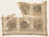 Textile fragment with interlace rosettes, stars, and flowers (EA1984.274)