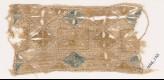 Textile fragment with quatrefoils arranged as diamond-shapes or squares (EA1984.278)
