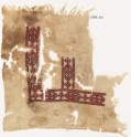 Textile fragment with cartouches and hooks (EA1984.316)