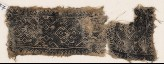 Textile fragment with bands of ornate diamond-shapes and hooks (EA1984.347)