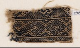 Textile fragment with bands of diamond-shapes and S-shapes (EA1984.348)