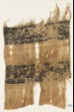 Textile fragment with bands of linked hooks and diamond-shapes (EA1984.395)