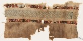 Textile fragment with two bands of ovals containing small crescents (EA1984.449)