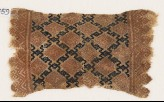 Textile fragment with linked diamond-shapes (EA1984.459)