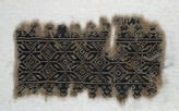 Textile fragment with interlocking hexagons and diamond-shapes (EA1984.463)