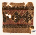 Textile fragment with three diamond-shapes and hooks (EA1984.470)