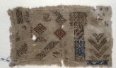 Sampler fragment with diamond-shapes and chevrons (EA1984.495)
