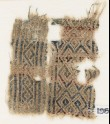 Textile fragment with diamond-shapes and hooks (EA1984.506)