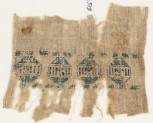Textile fragment with diamond-shapes containing rectangles (EA1984.519)