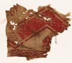 Textile fragment with chevron, fleur-de-lys, and vine (EA1984.52)