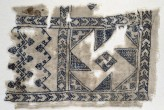 Textile fragment with geometric patterns