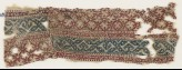 Textile fragment with grid and vines (EA1984.568)
