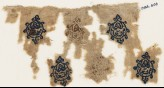 Textile fragment with six blazons (EA1984.606)