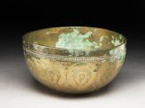Bowl with drop-shaped and circular patterns