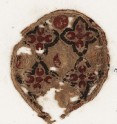 Roundel textile fragment with quatrefoils
