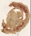 Roundel textile fragment with vine border (EA1984.81)