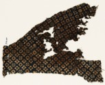Textile fragment with rosettes and squares with crosses