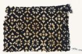 Textile fragment with flowers, quatrefoils, and rosettes