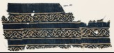 Textile fragment with bands of vines and leaves (EA1990.133)