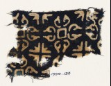 Textile fragment with quatrefoils and groups of four arrows (EA1990.134)