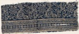 Textile fragment with stems, leaves, and blossoms