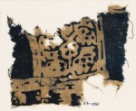 Textile fragment, possibly with squares and stylized animals (EA1990.147)