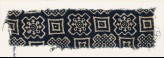 Textile fragment with squares and stepped squares (EA1990.160)