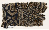 Textile fragment with rosettes, leaves, flowers, and bandhani, or tie-dye, imitation (EA1990.162)
