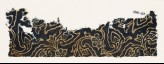 Textile fragment with swirling flower-heads and leaves (EA1990.163)